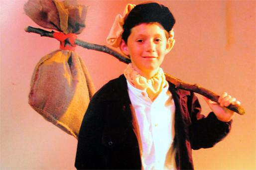 Niall Horan playing Oliver at St Kenny National School play aged just nine