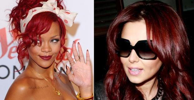 From left: Rihanna and Cheryl Cole