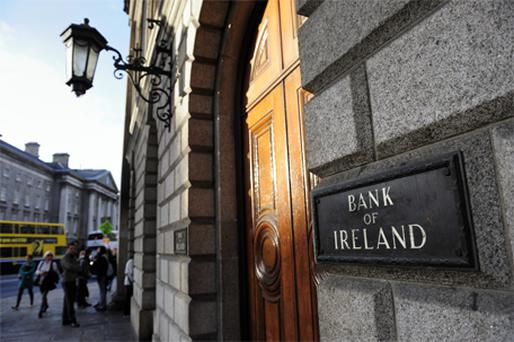 Bank of Ireland jumped 9.3pc to 42.3c. Photo: Bloomberg News