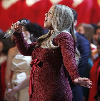 Mariah Carey performed at the Christmas In Washington concert