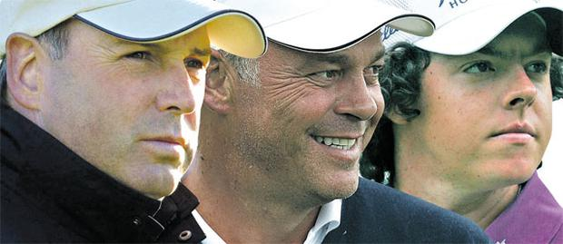 Garth McGimpsey (left) was a source of inspiration for Darren Clarke who in turn inspired Rory McIlroy.