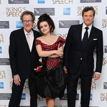 Geoffrey Rush, Helena Bonham Carter and Colin Firth star in The King's Speech