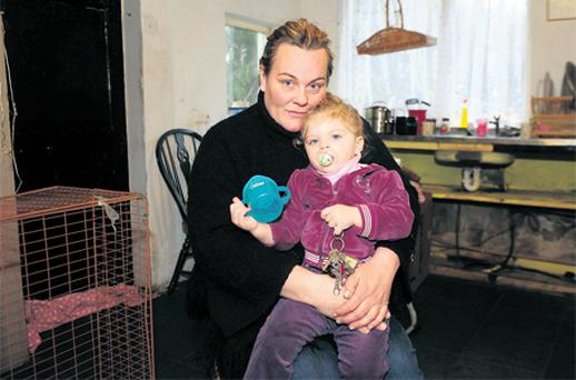 Veronica McGrath with her daughter Nadine at their home in Lower Coole, Co Westmeath