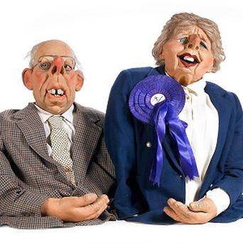 The Spitting Image puppets of Margaret and Denis Thatcher