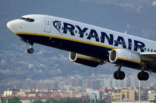 Ryanair dropped 0.40pc but held above the €3.75 level, where there is seen to be strong support. By the close it stood at €3.76. Photo: Getty Images