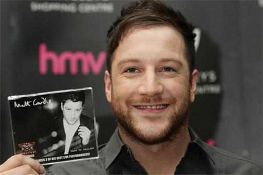 Matt Cardle: beat Rihanna's 'What's My Name' to No 1 spot