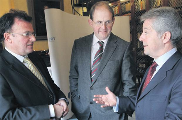 At the launch of Irish Management Institute 'Closing the Gap' report were, from left, Dr Tom McCarthy, CEO, IMI; Frank Ryan, CEO, Enterprise Ireland; and Dr Phil Nolan, chairman of IMI