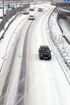 Drivers are advised to take care in predicted icy conditions tonight. Photo: Collins Photo Agency