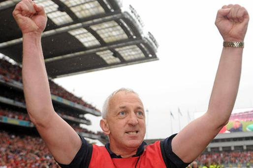 Conor Counihan celebrates Cork's victory in the All-Ireland SFC final - an achievement which hasn't been recognised by any other sports award.