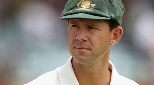 Australian captain Ricky Ponting is an injury doubt for the fourth test against England having suffered a small fracture to the little finger on his left hand. Photo: Getty Images
