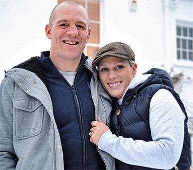 Zara Phillips and her fiance Mike Tindall. Photo: PA