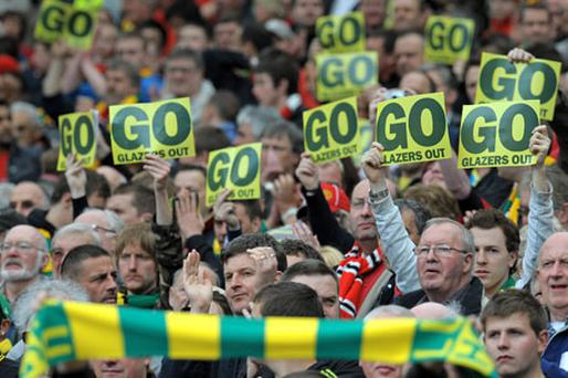 Staying put: The unpopular Glazer family have no plans to sell Manchester United yet. Photo: Getty Images
