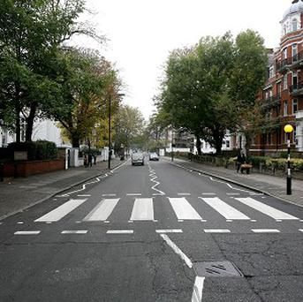 The pedestrian crossing outside the Abbey Road Studios in London, which has been given listed status