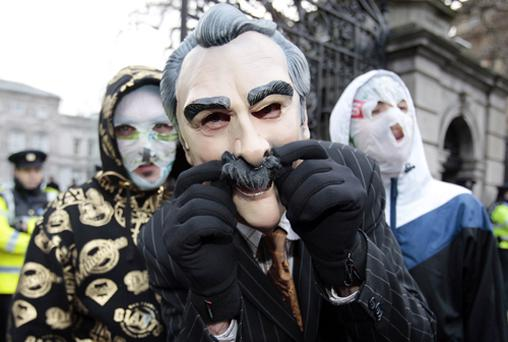 The Rubberbandits outside the Dail earlier this month to promote the song for Christmas