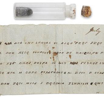 A message in a bottle from the American Civil War has been opened (AP)