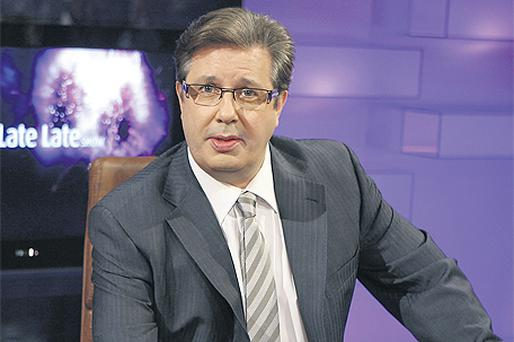 Gerry Ryan when he presented 'The Late Late Show'