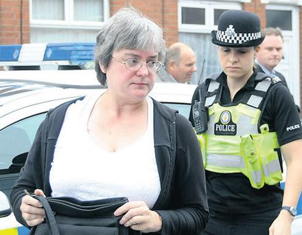 Caught on camera: Mary Bale received death threats after she was spotted throwing a cat into a wheelie bin