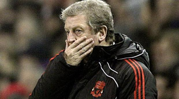Liverpool manager Roy Hodgson on the touchline during the Premier League match at Anfield last night
