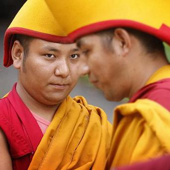 A group of Buddhist monks has been sent to a US university to study science (stock image)