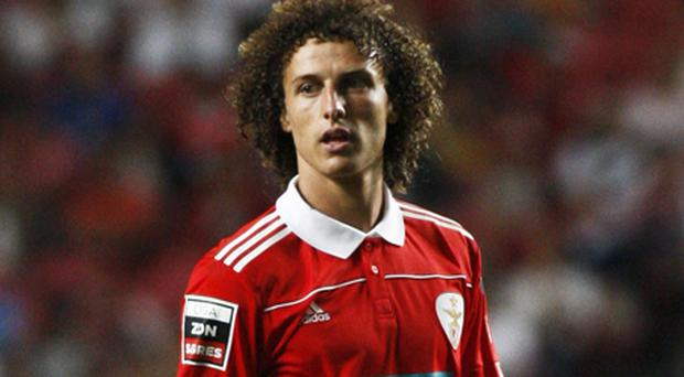 Chelsea have had a £17m bid rejected for the Benfica defender David Luiz. Photo: Getty Images