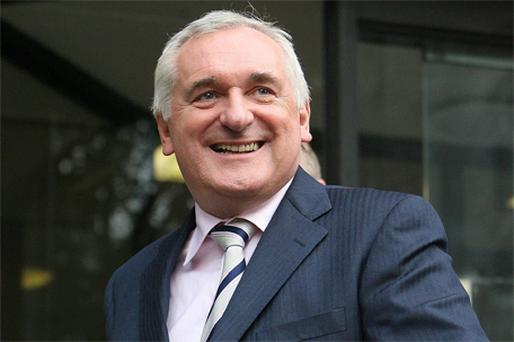 Bertie Ahern leaves the Mahon Tribunal. Photo PA
