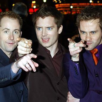 Elijah Wood and Dominic Monaghan were guests at fellow hobbit Billy Boyd's wedding
