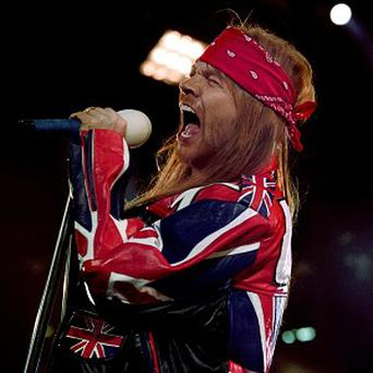 Axl Rose has been named the greatest lead singer of all time in a music poll