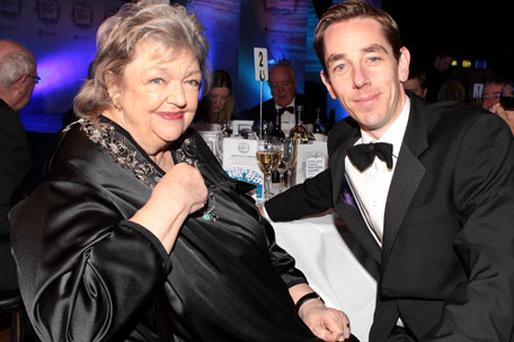 Maeve Binchy and Ryan Tubridy. Photo: Gerry Mooney