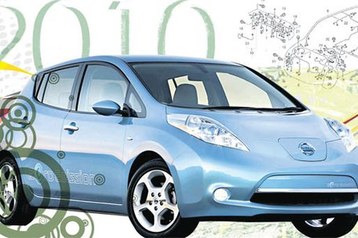 Sparks will fly: Nissan's Leaf, the top electric car, which goes on sale here next year
