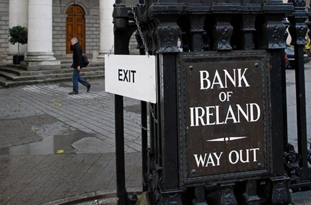 The figures show our banks lost €69.5bn of deposits between the start of 2010 and the end of November. Photo: Getty Images