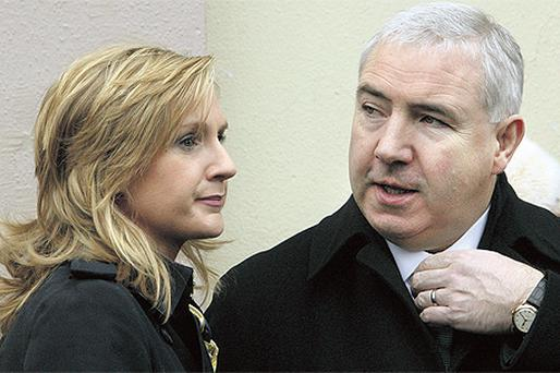Gayle Dunne with her husband, NAMA developer Sean Dunne. Mrs Dunne is suing a New York lawyer for money she says was not returned after an abandoned property deal
