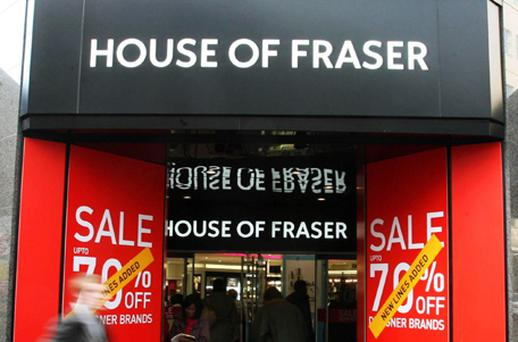 UK-owned House of Fraser recorded bumper sales on the back of its online retail service. Photo: PA