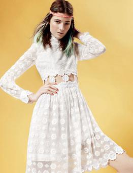 Maxis and white cottons, such as this Topshop dress, €130.