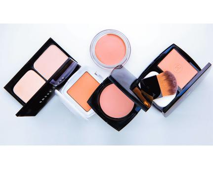 Pictured, bottom row, from left: Bobbi Brown Illuminating Finish Powder SPF 12; La Roche Posay Toleriane Teint Mineral; Lancome Teint Idole Ultra; Chanel Vitalumiere Eclat Comfort Radiance Compact Makeup. Centre top: Max Factor Miracle Touch Liquid Illusion Foundation Email thepanel@independent.ie