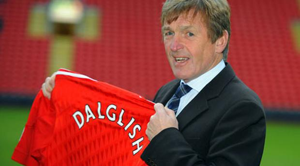 Kenny Dalglish was officially unveiled as Liverpool manager at Anfield yesterday. Photo: Reuters