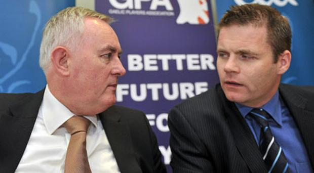 GAA president Christy Cooney and GPA chief Dessie Farrell will be hoping to tie up loose ends of deal.