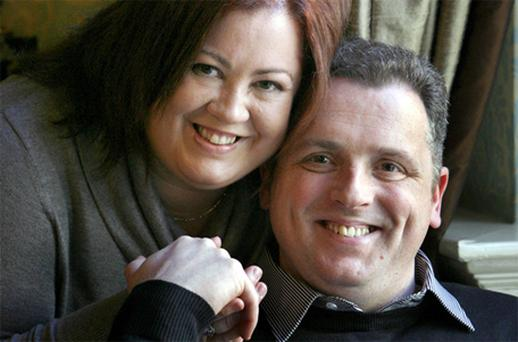 Gary Smith suffered a stroke but his fast-acting wife Clare spotted the signs and called for an ambulance straight away