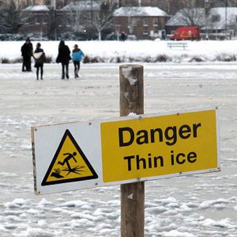 A man has been handed a 14-day curfew for hitting a policeman with a snowball during the recent wintry weather