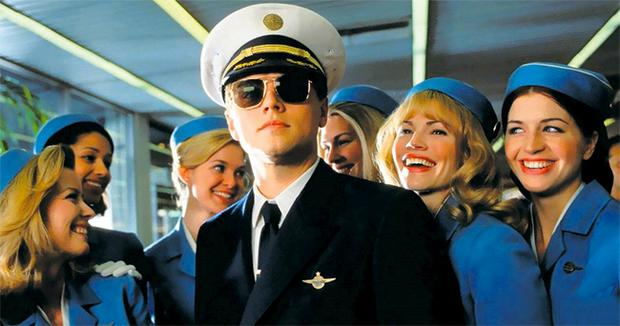 Faking it: Leonardo DiCaprio as conman Frank Abagnale Jr in Catch Me If You Can (2002).