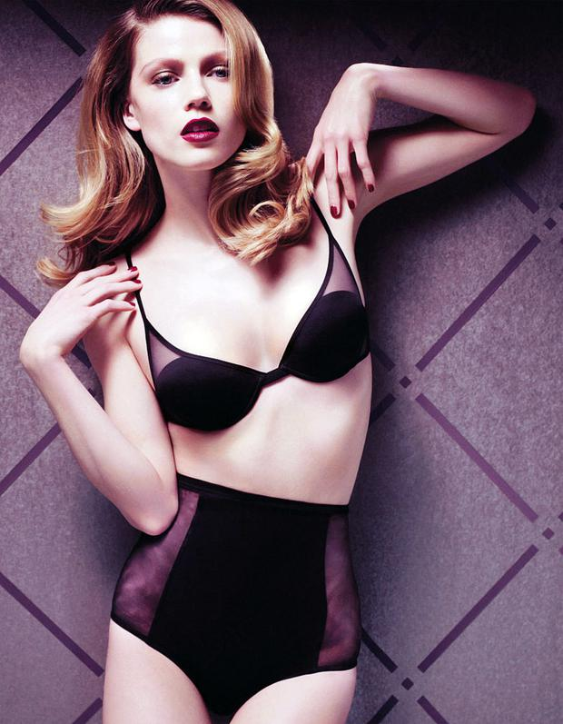 Timeless bra, €150, and high-waisted briefs, €120, both La Perla at Susan Hunter, Westbury Mall