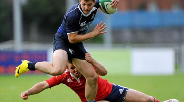 Sam Coghlan Murray in action for Leinster in their U20 interprovincial clash with Munster last September.