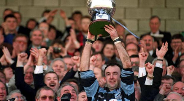 Pat Murray winning the All-Ireland League with Shannon.