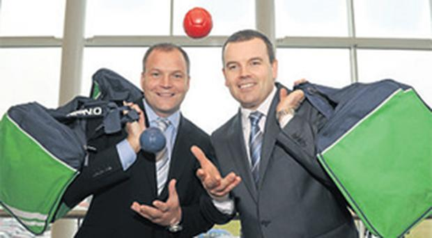 At the Pembroke Communications and Paralympic Council of Ireland announcement were Michael O'Keeffe, managing director, Pembroke, and Liam Harbison, CEO, Paralympic Council