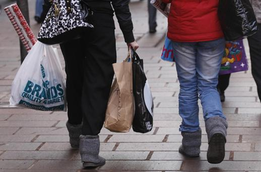 The ONS said retail sales volumes declined 0.8pc month-on-month - the lowest reading since records began in 1988. Photo: PA
