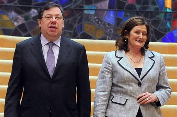 Taoiseach Brian Cowen and his wife Mary