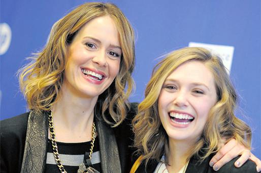 Elizabeth Olsen with actress Sarah Paulson at the festival