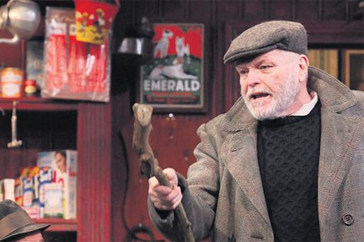 PASSION: Brendan Conroy as Bird and Brian Dennehy as the Bull in JB Keane's 'The Field'