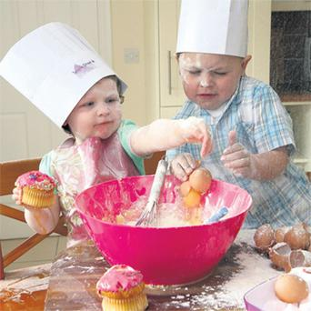 Brooke, 2, and Ben, 4, Whelan, from Ashbourne, Co Meath, beat the Revenue by baking their own cakes, rather than getting mum to buy them