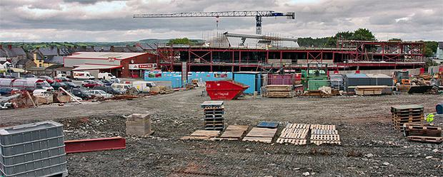 Work in progress in 2007 on the shopping centre at Main St, Castleblaney