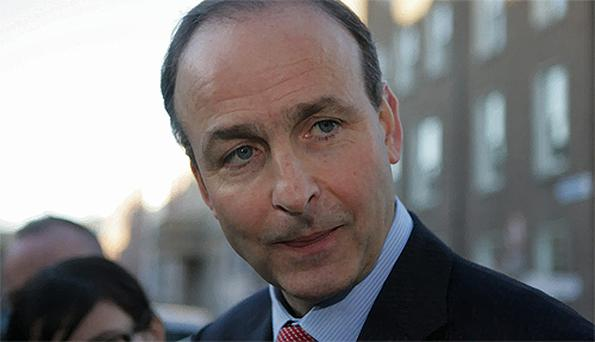 Fianna Fail leadership candidate Micheal Martin. Photo: Collins